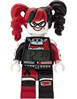 LEGO Batman Movie Harley Quinn Kids Minifigure Alarm Clock | red/black | plastic | 9.5 inches tall | LCD display | boy girl | official