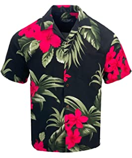 ee944da6b Amazon.com: Hotouch Men's Hawaiian Aloha Shirt Short Sleeve Tropical ...