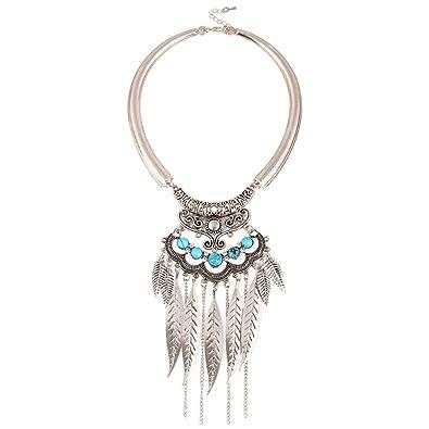 Demiawaking Unique Bohemian Ethnic Women Bib Pendent Necklace Jewelry 10 Designs trRtUQGg0A