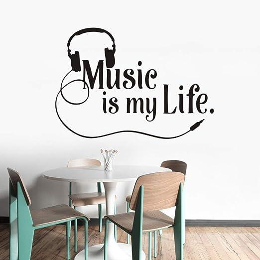 Musical Tatuajes De Pared La Música Es Mi Vida Tatuajes De Pared ...