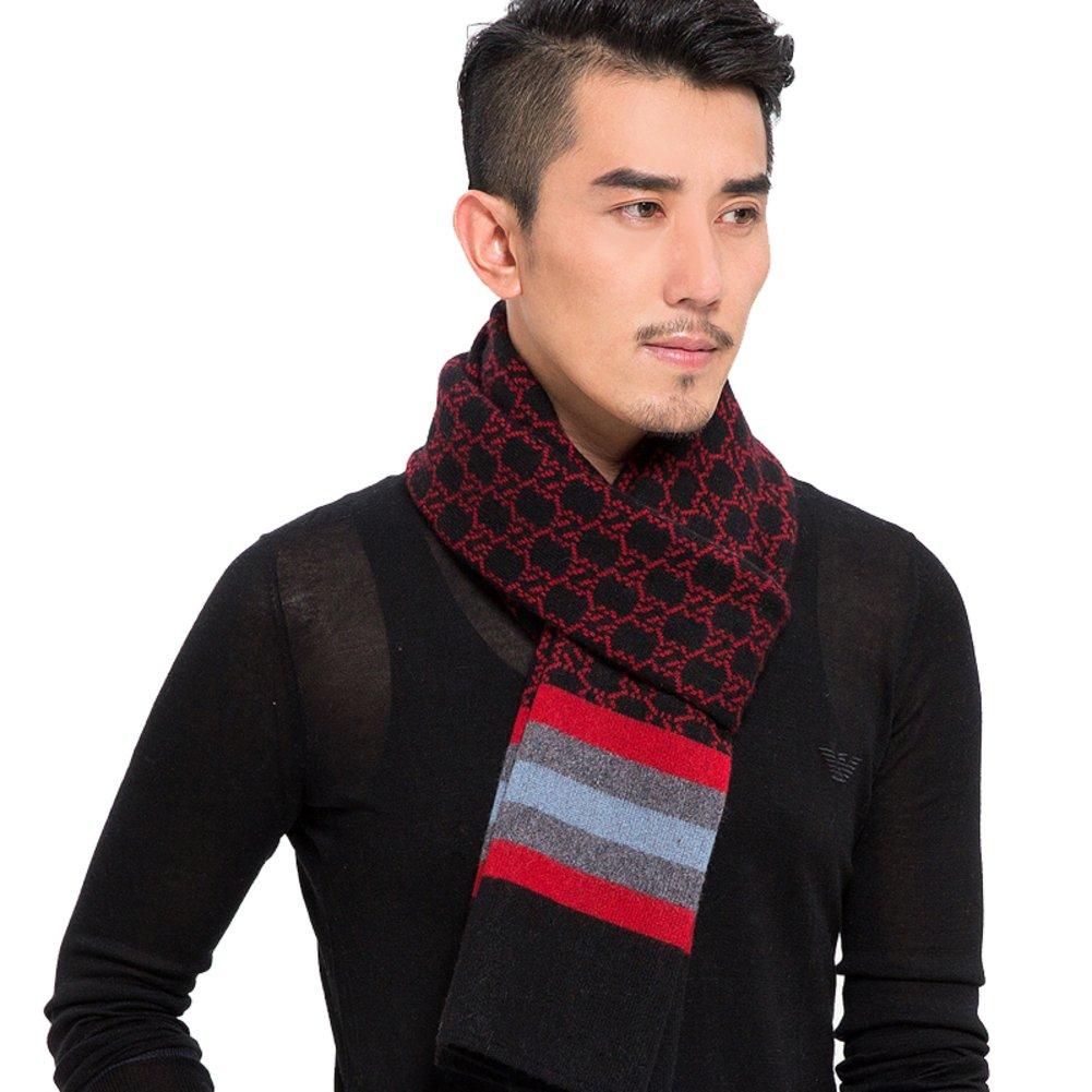 Men scarves/ winter scarf/Yarn knit Plaid scarf-A One Size