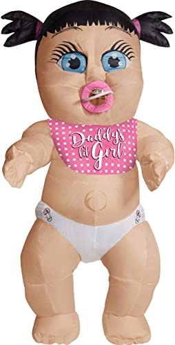 Rubies Daddys Lil Girl Adult Inflatable Costume, As Shown, One Size