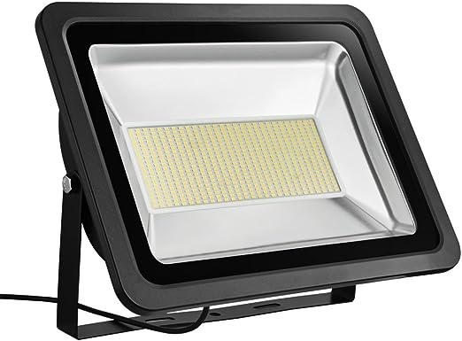 Foco proyector LED 150W para exteriores, 11000LM, Blanco cálido ...