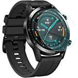 ILOFT Premium High Definition Ultra Clear Screen Protector, Waterproof Tempered Glass Screen Protector for Huawei Watch GT 2 Sport/Classic/Elite Edition - (46MM - Pack of 2)