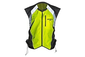 3XL Green Gearx Hi Visibility Vest 4 Motorbike or Industrial Safety Wears