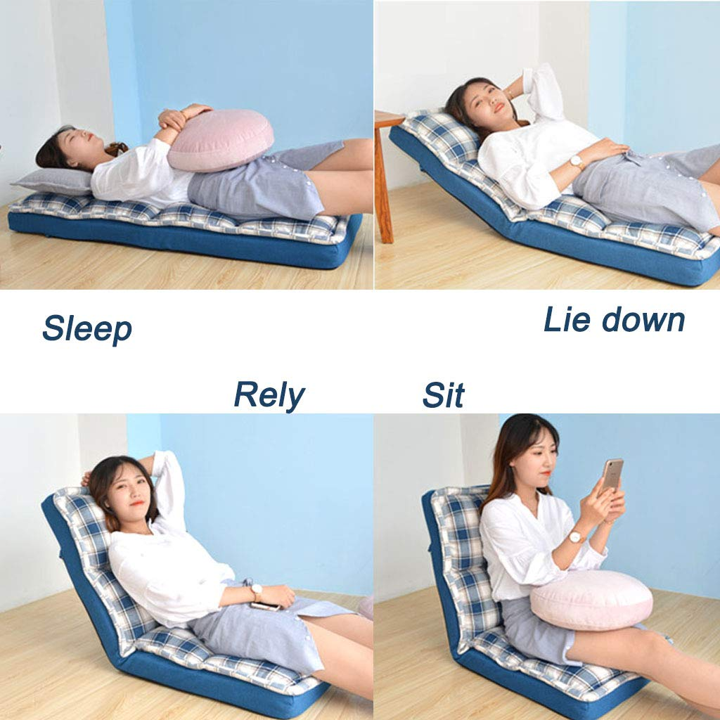 Tocadores minnesskum golvstol kan sitta Rely Lie Down Sova Lat Stolskudde med hög motståndskraft svamp och ryggstöd vardagsrumsstol för läsning meditation spela spel (gul) gUL