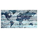 Indigo Countries by Parvez Taj Painting Print on White Wood -
