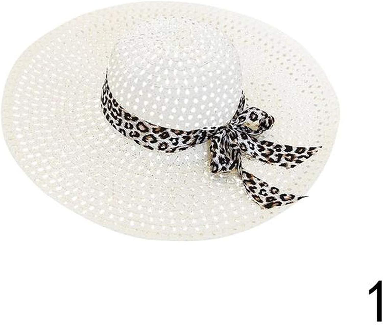 Fortune-god Women Summer Beach Hat Derby Cap Wide Brim Floppy Fold Bohemia Sun Straw Hat