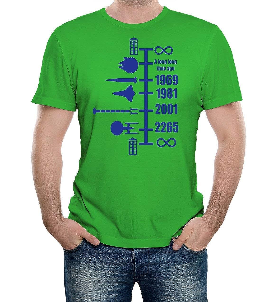 f50f0b69 Reality Glitch Men's Spaceship Timeline T-Shirt