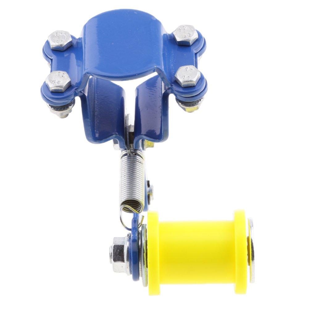 Azul Tensor de Cadena de Ajustador Rodillo de Perno para Motocicletas Universal//F/ácil de Instalar