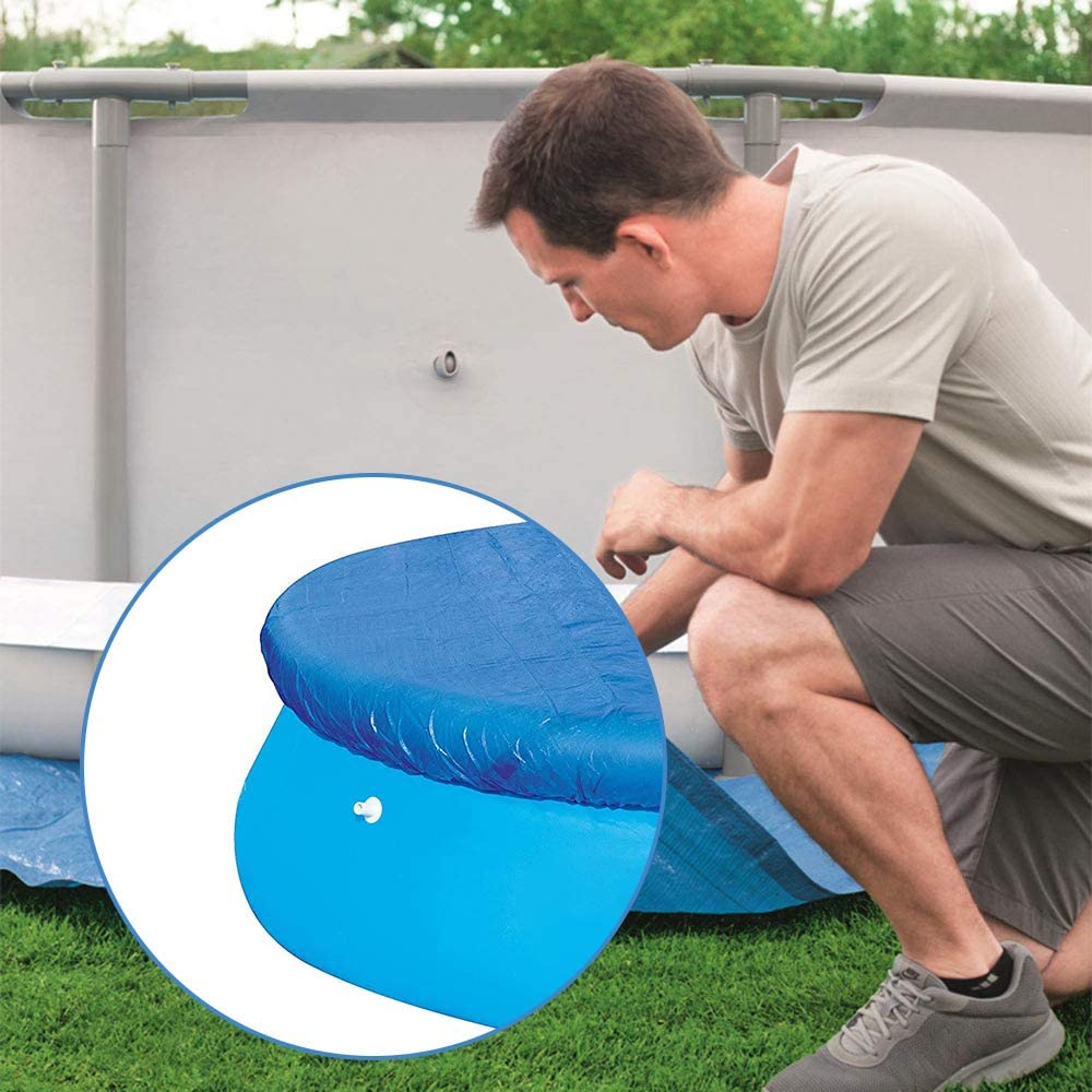 Wovatech Cubierta para Piscina 138//244//335 cm Antipolvo Resistente a la Lluvia Tapa para Piscina Fast Set