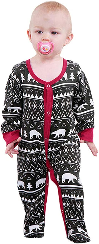 KONFA Toddler Newborn Baby Boys Girls Fall Winter Clothes,Cartoon Deer Hooded Romper Cotton Striped Jumpsuit Set