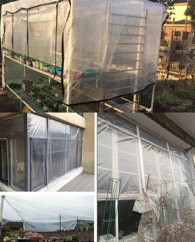 1m M-X-Y TeloneTelone Trasparente Impermeabile con Occhielli Balcone Tenda da Sole in plastica Antipioggia per Patio da Campeggio in Giardino,1