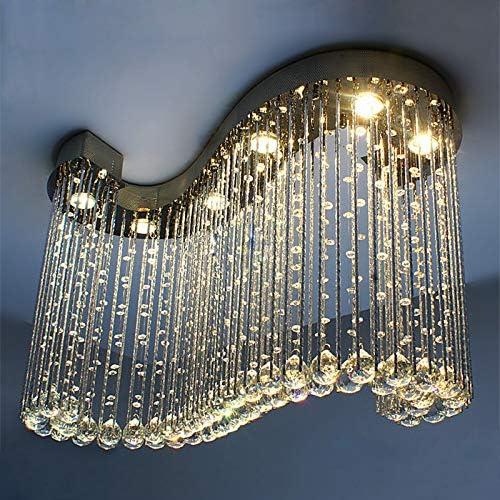 JEUNEU Modern Royal Crystal Chandelier K9 Raindrop Ceiling Light - a good cheap living room chandelier