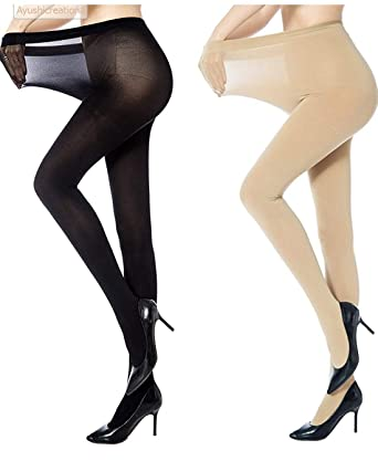 2bf059082de38 K's Creations Women's Panty Hose Long Exotic Stockings Tights - Pack ...