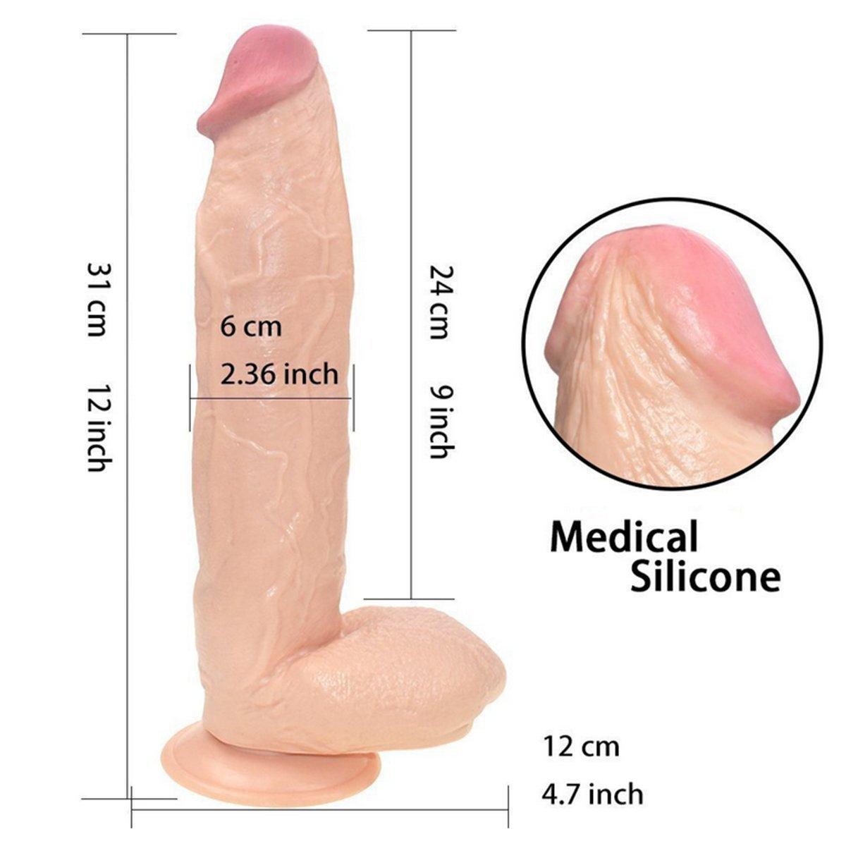 12 pulgadas Big D-ildo D-ildo Big Extreme Realistic Sturdy Ventosa pene para mujeres juguetes sexuales a51f9b