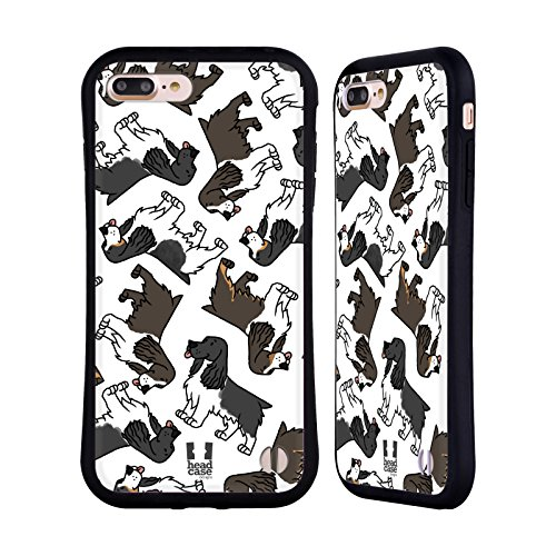 (Head Case Designs English Springer Spaniel Dog Breed Patterns 10 Hybrid Case for iPhone 7 Plus/iPhone 8 Plus )