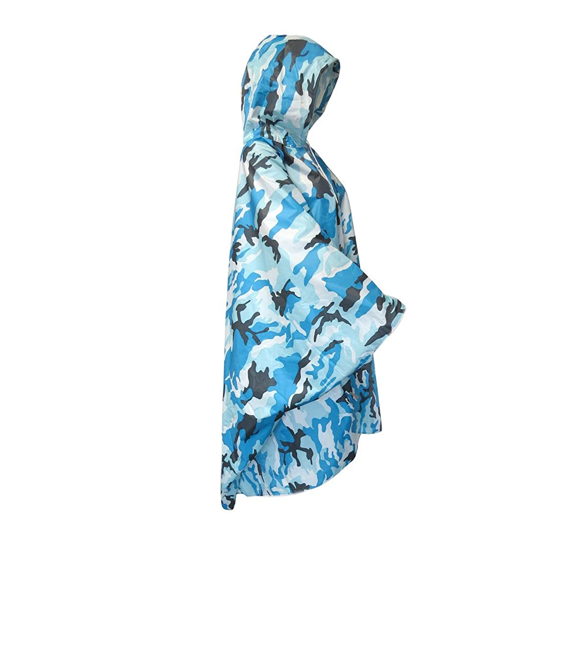Sonia Originelli Regenponcho Regencape Jacke Militä r Tarnfarbe Rain Cape Fahrrad T-Cape4-Militä r-blau