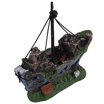 Barco Ornamento de Acuario Pesca Dcoración Para Fish Tank Tanque de Pez: Amazon.es: Juguetes y juegos