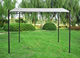 Greenbay 3x3m Metal Wall Gazebo Awning Canopy Pergola Shade Marquee Shelter Garden Party Tent