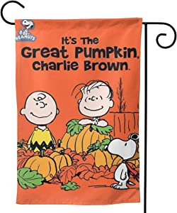 "Criss Garden Flag,Charlie Brown Love Falls Double Sided Outdoor Flag House Banner for Yard Home Decor 12.5""X18"" Inch Outdoor Deco"