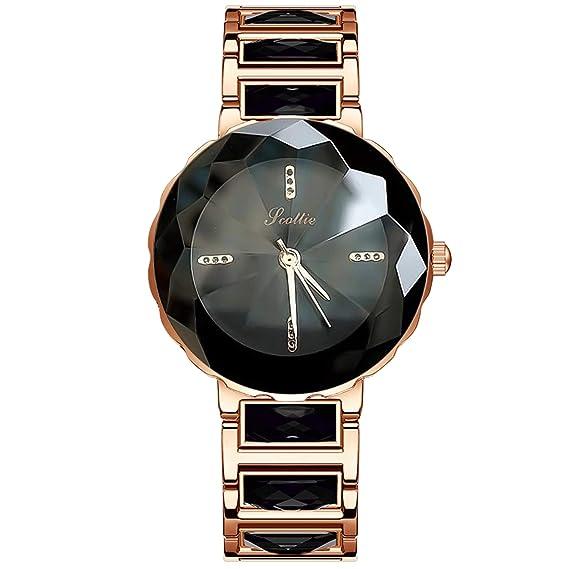RORIOS Elegante Moda Mujer Relojes de Pulsera Acero Inoxidable Band Relojes de Mujer Impermeable