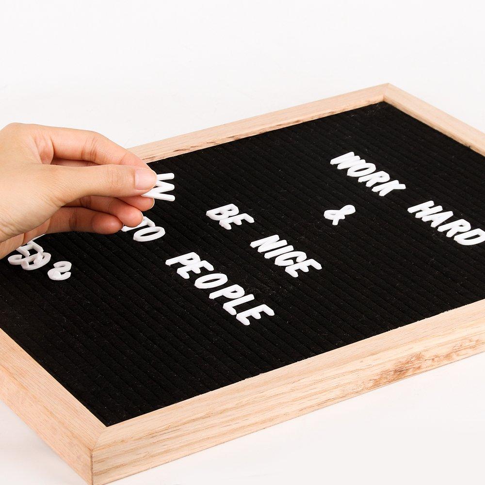 changeable letter board 12 x 18 message board sign with 678 characters black felt board oak. Black Bedroom Furniture Sets. Home Design Ideas
