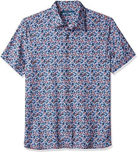 Perry Ellis Men's Total Stretch Floral Print Shirt