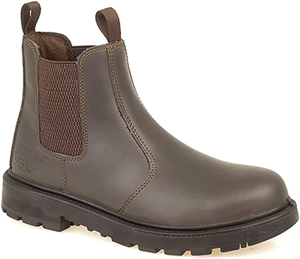 Grafters Mens Brown Leather Lightweight