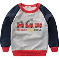 Fairy Baby Toddler Boys Cartoon Car Cotton Sweatshirt Casual Outfit Kid Top Pullover Shirt
