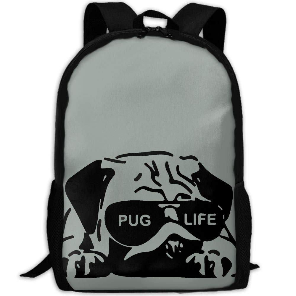 OIlXKV Pug Life Print Custom Casual School Bag Backpack Multipurpose Travel Daypack For Adult by OIlXKV