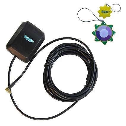 HQRP Antena externa GPS amplificada 1575.42 MHz de montaje magnético para Garmin Quest (010-