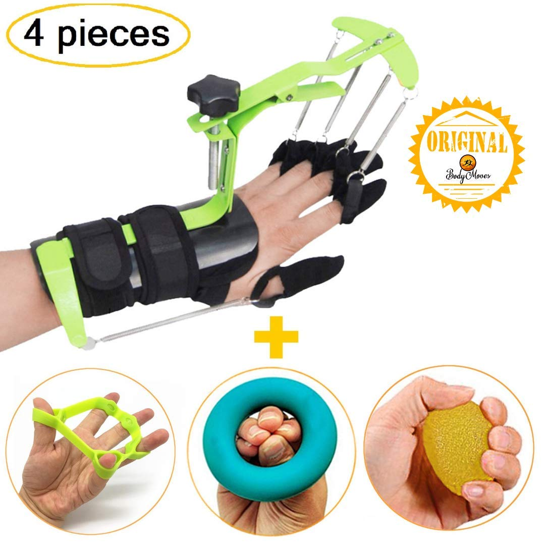 BodyMoves Finger Hand Training Device Recovery Equipment for Stroke Hemiplegia with Grip Power Strengthener Exerciser for Workout Guitar Fingers orthosis Correction and Prevention Activities