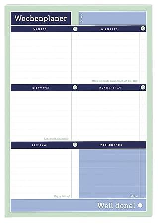 Moses Verlag 82118 - Agenda planificadora semanal, 22.6 x ...