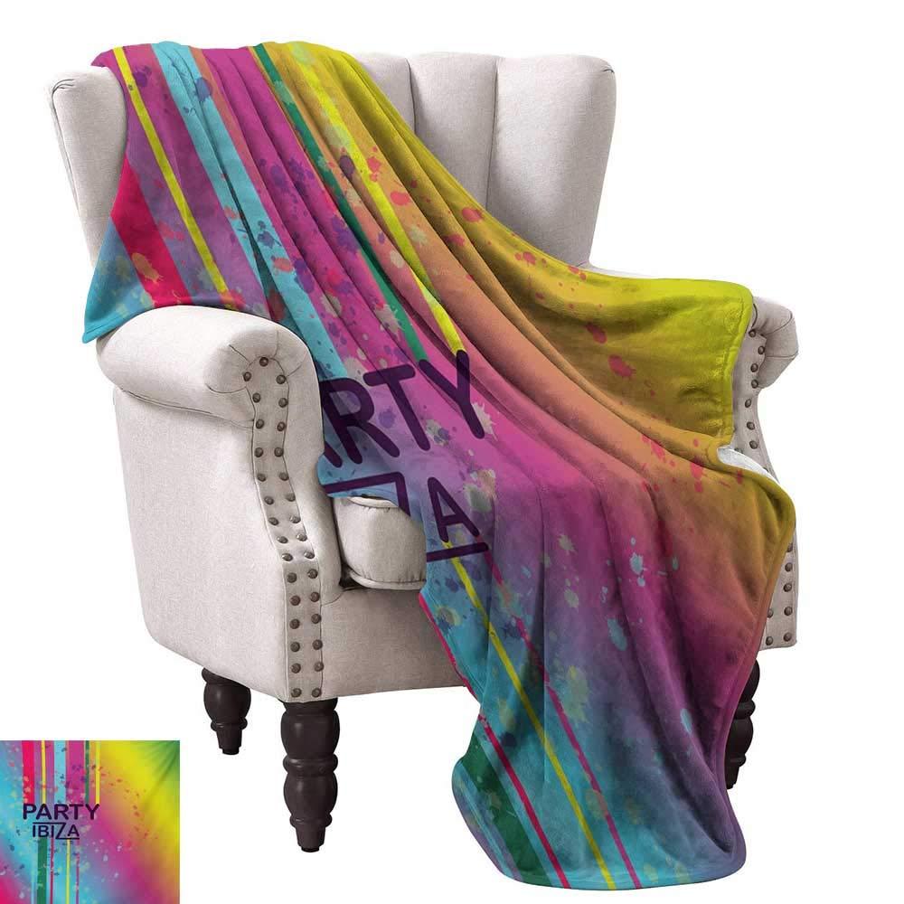 Amazon.com: Luckyee Throw Blanket,Rainbow Colored Grunge ...