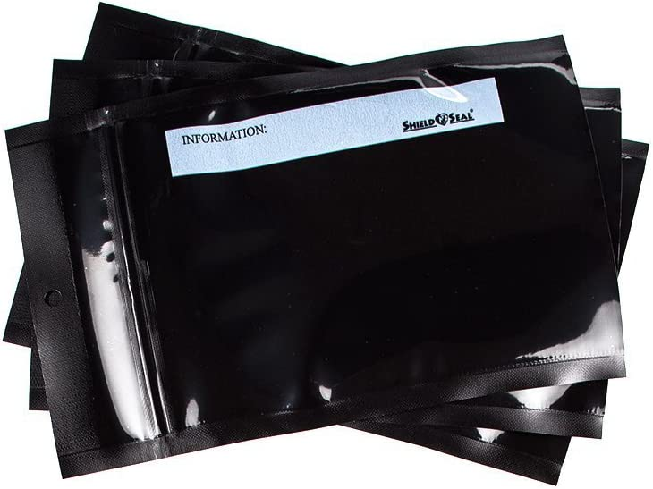 "5"" x 8"" All Black With Zipper Vacuum Sealer Bags SNS 1700"