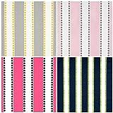 Custom Roman Shade in Lulu Stripes