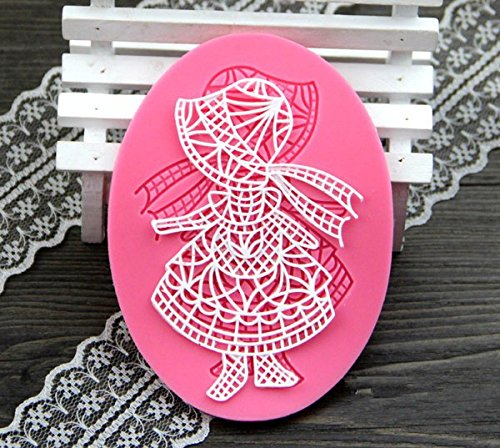 Anyana Little Red Riding Hood Jello 3D Silicone Fondant Lace Mold Cake Decoration Tool Gum Pastry Tool Kitchen Tool Sugar Paste Baking Mould Cookie Pastry (Gum Hoods)