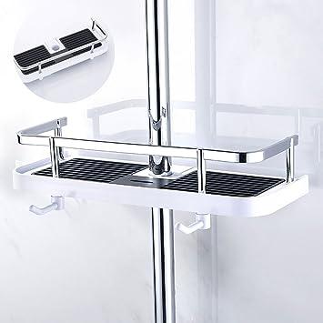 Royaliya Duschstangen Ablage Badezimmer Duschregal Ohne Bohren Verstellbar  für Shampoo Conditioner Seife, Badezimmer Dusche Rack Bad Aufbewahrung ...