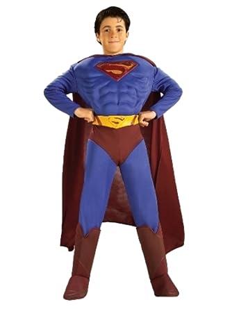 Amazon.com: DC Comics Boys Superman Returns Músculo Pecho ...
