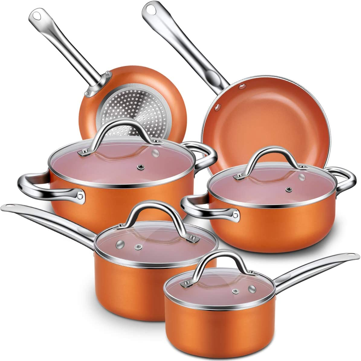 CUSINAID Aluminum Nonstick Pots and Pans for Gas Stove Image