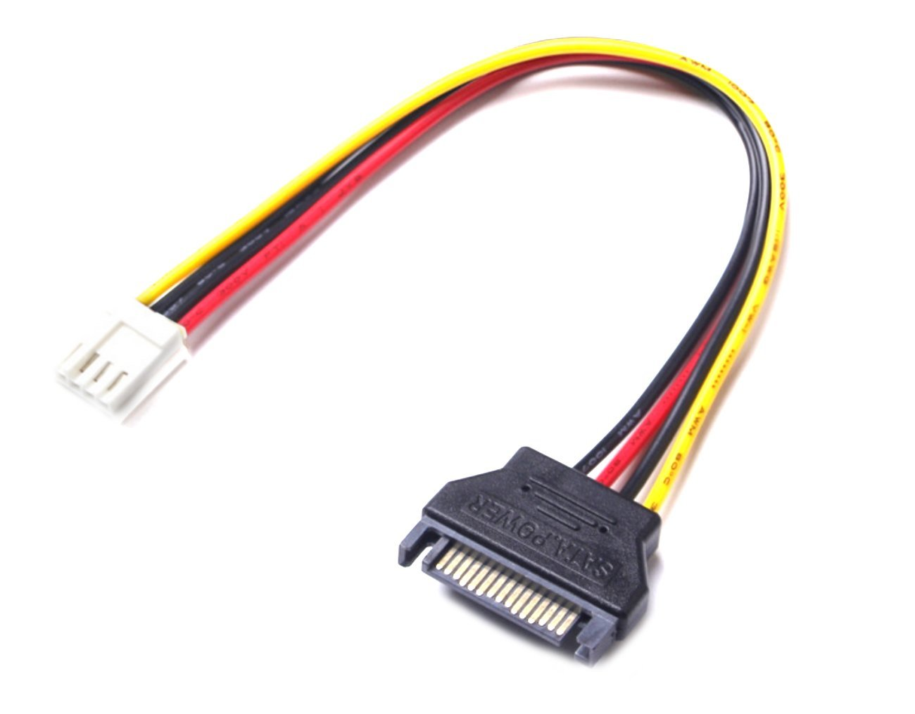 15pin SATA Male to 4pin Floppy FDD Female Power Converter Adapter Cable winwill E807