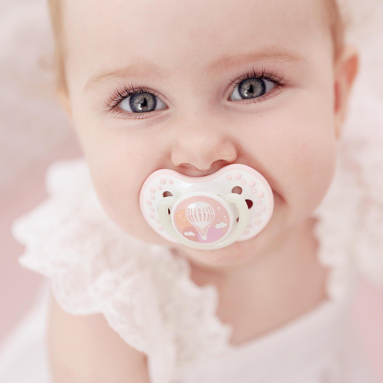 Folky Colecci/ón Cubierta Higi/énica Azul Efecto Calmante LOVI 2x Chupete Silicona para Beb/és de 6-18 meses Protege el Reflejo Natural de Succi/ón de Beb/é