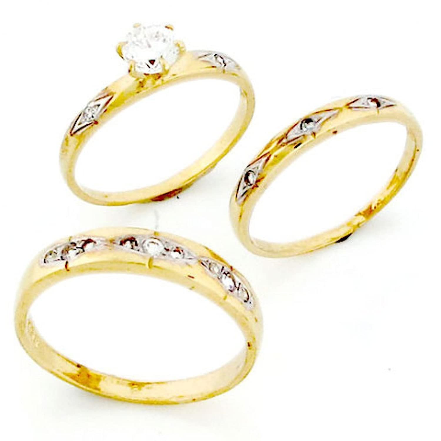 two jewel diamond ring marquise rings tree gold tone collections estate cluster