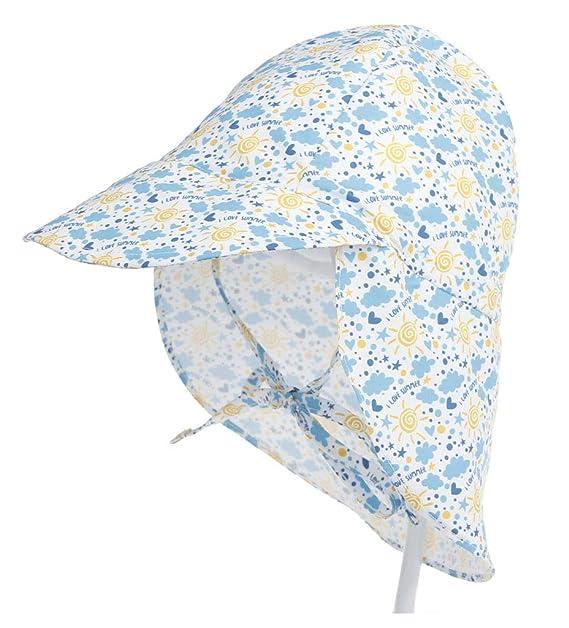 Amazon.com: Sombrero de protección solar UPF 50 + para bebé ...