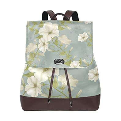 f4044d674f05 Amazon.com  Womens Leather Backpack Petunia Travel Shoulder Bag for Girls  Ladies  Shoes