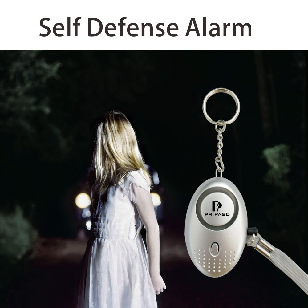 2 Pack Emergency Personal Security Safety Alarms Self-Defense Electronic Device 130DB Decibels with Pripaso LED Flashlight for Women, Elderly, Rape, Jogger, Student, as a Bag Decoration by Sinotech (Image #4)