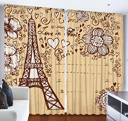 Curtains City Decor for Bedroom Living Room Dining Room Teen