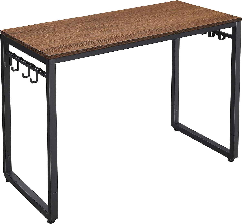 VASAGLE Home Office Desks, Walnut Brown and Black