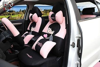 20ps 2018 New Luxury 1 Set Cute Female Cartoon Car Seat Cover Accessories Universal Interior
